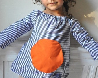 Magic pocket blouse - Instant download - Pdf pattern -12m up to 4T - Easy sewing -