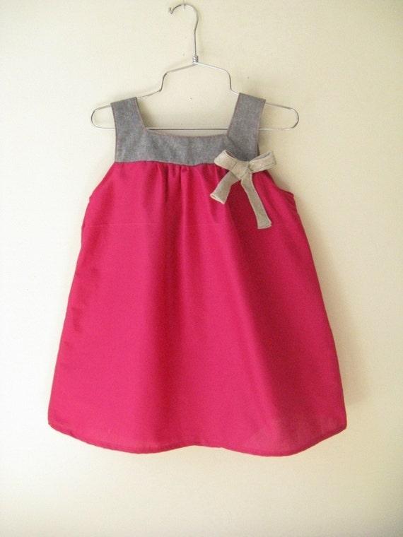 SALE-Pomegranate Dress - You pick the color-
