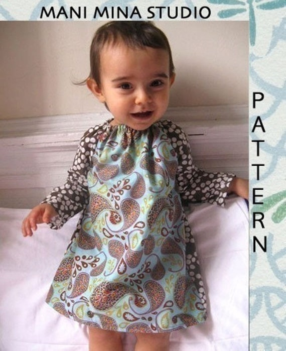 The everyday dress- Instant download- Pdf pattern- 12m to 4T