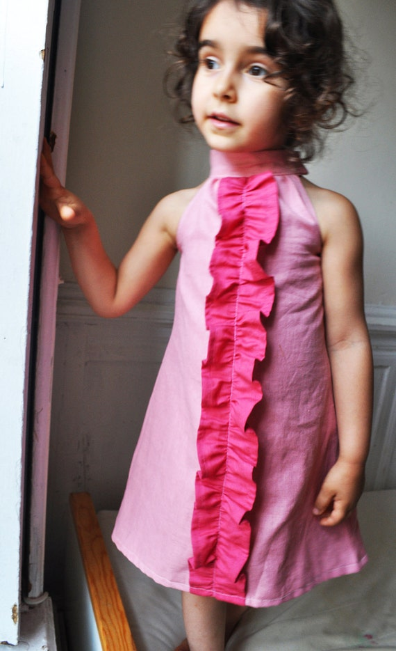 The lola dress - Instant download- pdf pattern- 12m to 4T- Easy sewing- ONE pattern piece-