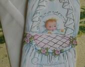 Vintage Unused New Baby Card