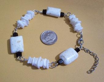 Precious Stone and Shell Bracelet