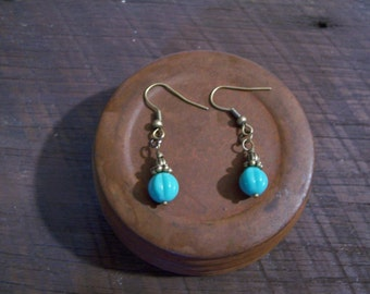 Beautiful Turquoise fluted earrings