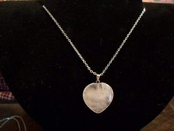Rose Quartz Stone Heart necklace