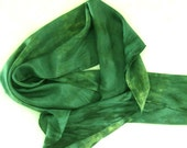 Hand Painted Silk Scarf - Forest Rapture