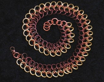 Autumn Colors Chainmail Necklace