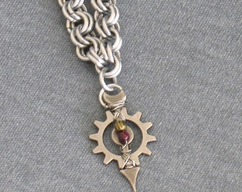 Garnet Gear Chainmaille Necklace