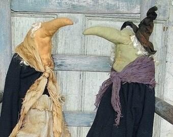 Bella Pipistrello, An Old World Primitive Witch Pattern