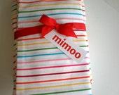 Multi stripe cot\/crib sheet set
