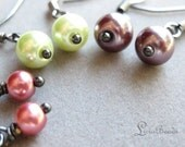 50% off clearance sale Beach combing - assorted colored glass pearls on gunmetal