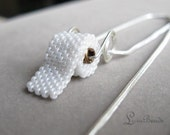 Toilet Paper on your neck - sterling silver loo roll necklace