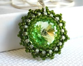 Shire - beadwoven swarovski and sterling chain