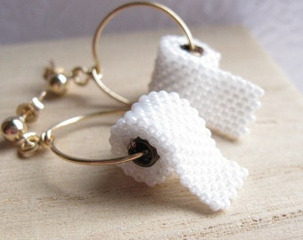 toilet paper earrings on 14kgf post earrings allow 2 by