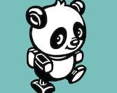 Wall Art Print Kids Panda Children Nursery Cute