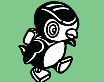 Penguin Modern Print DigitalArt Graphic Cute Animal Bird