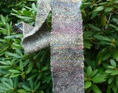 Handspun Handwoven Wool Scarf