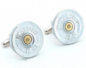 Gun Cufflinks - Winchester 12 Gauge Shotgun Shells