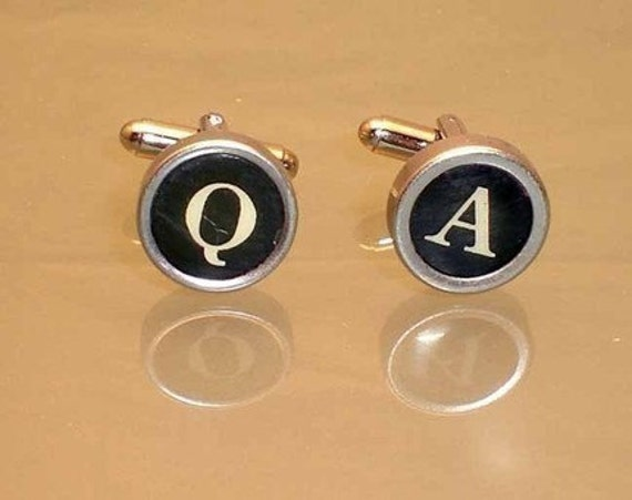 Authentic Typewriter Keys Cufflinks - All Letters Available - Create your Own