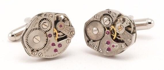 Industrial Steampunk Watch Cufflinks