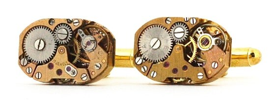 Industrial Jewelry - Steampunk Cuff Links with Gift Box