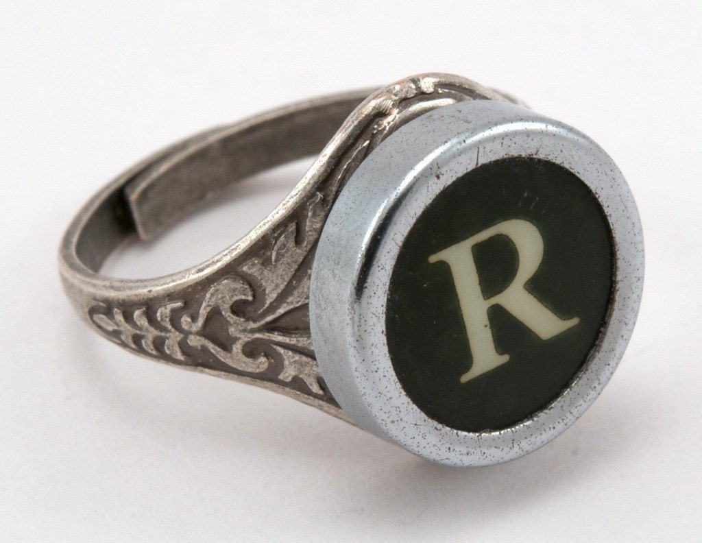 R Is For Ring Letter R Antique Typew...