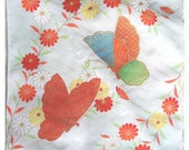 Kimono silk with butterfly design - reserved for MaisonMarmotArmy
