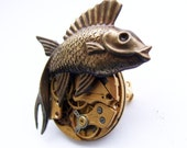 Steampunk punk fish brooch