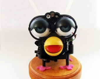 Zombie furby, solar powered, named Petra