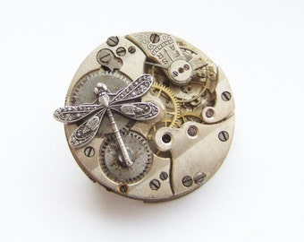 And the dragonfly settles for a time, steampunk brooch