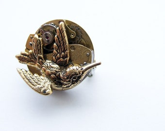 And the tiny wren nested in the clockwork