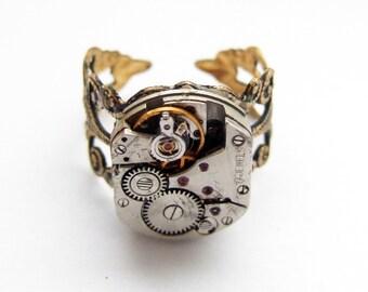 Steampunk filigree ring