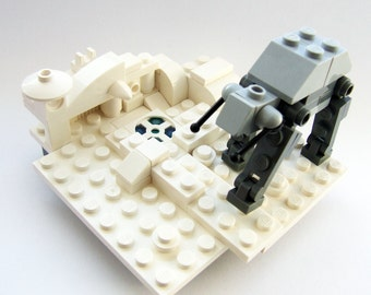 Star Wars, LEGO, Battle of Hoth, tiny Empire Strikes Back diorama with AT-AT