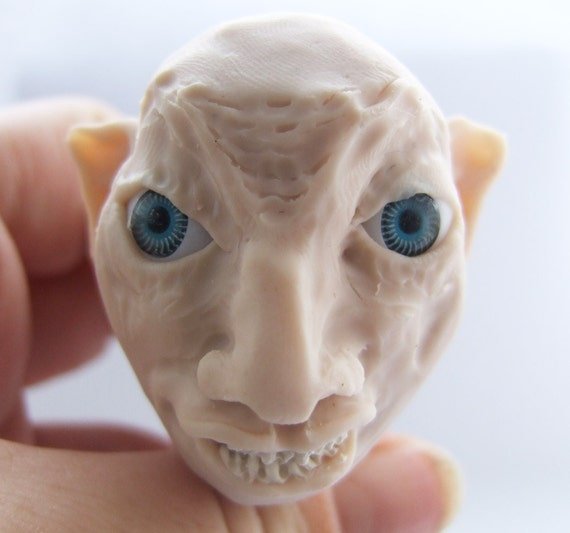 Character full head sculpture - nasty goblin
