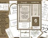 Delux Dragonfly Wedding Invitation Kit on CD