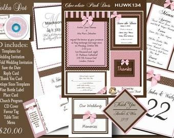 poka dot invitations