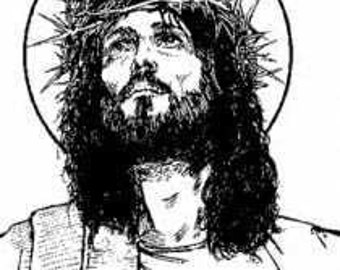 JESUS CROWNED KING New mounted Rubber Art Stamp - Ships Free!