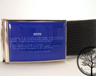 Windows Blue Screen of Death on Chrome Buckle BSOD As seen on Gizmodo.com and Wired.com