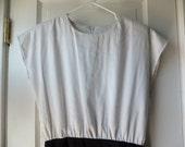 1980s black and white AVON dress  / 80s illusion dress / AVON sassy dress