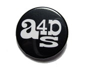 Art for a Democratic Society Logo Button - Black
