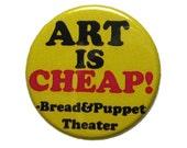 Cheap Art Manifesto Button