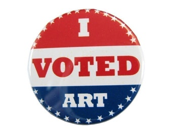 I Voted Art Button