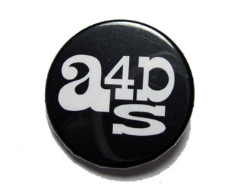 Art for a Democratic Society Logo Button - Black