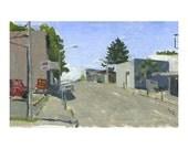 Downtown Roseburg:  Original Oil Painting Plein Air Landscape