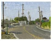 Phoenix, Oregon:  Original Framed Landscape Oil Painting en Plein Air