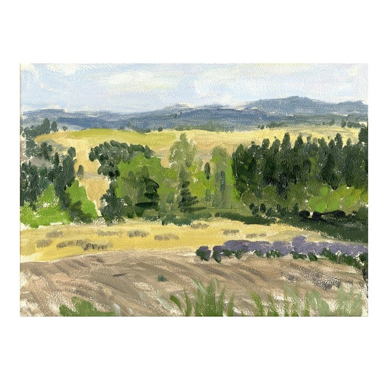 Willamette Valley - Original Oil Painting, Plein Air Landscape of Pacific Nortwest Near Portland