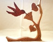 Hummingbird, wooden bird puzzle