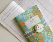 Printable Calendar and Matching Gift Tags ( PDF Blank Inside Booklet) - Vintage Floral One