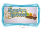 Eggstra special scrapbook title\/ embellishment paper piecing