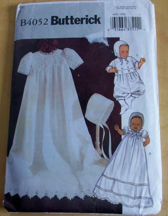 Butterick 4052 Infant dress, jumpsuit and hat