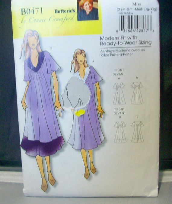 Butterick Sewing Pattern B0471 Connie Crawford Ladies Dress
